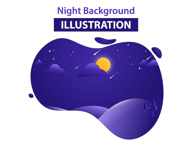Abstract landscape background vector illustration
