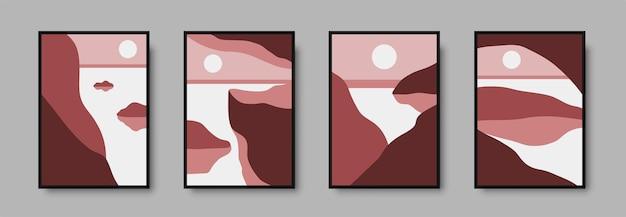 Набор абстрактных пейзажей