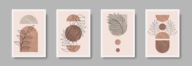 Abstract landscape wall art print set.