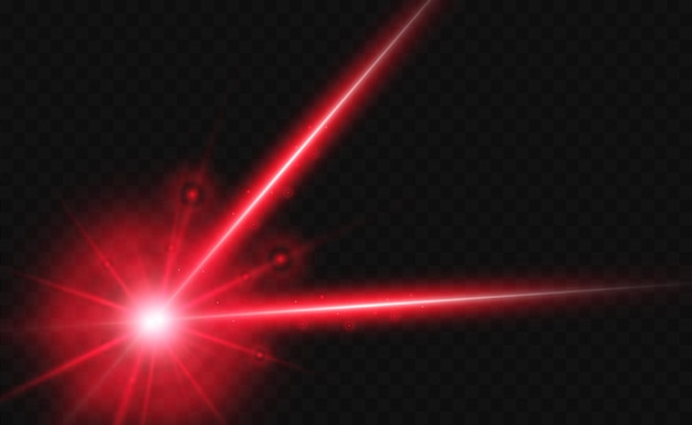 Abstract laser beam transparent isolated on black background vector illustration