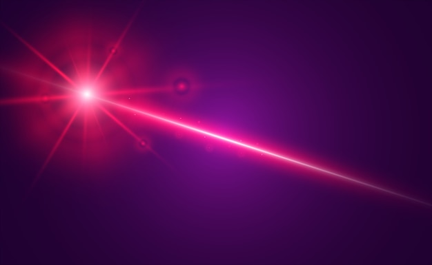 Abstract laser beam. transparent isolated on black background.