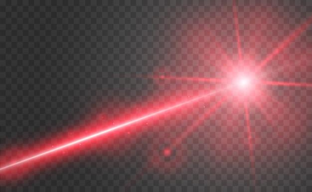 抽象的なレーザービーム。透明な黒の背景に分離されました。図。