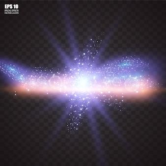 Абстрактный лазерный луч. прозрачный, изолированные на черном фоне. .