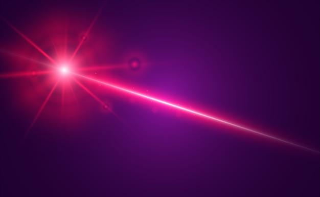 抽象レーザービーム。黒の背景に透明な分離。