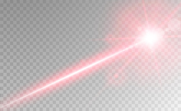 추상 레이저 빔 투명에 고립 된 투명