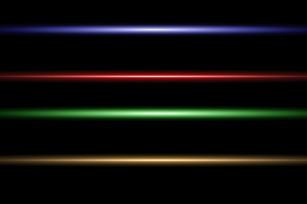 Abstract laser beam. transparent isolated..