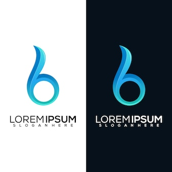 Abstract latter b logo design