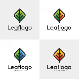 Abstract leaf logo design