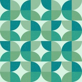 초록 잎 모양 완벽 한 기하학적 패턴 배경