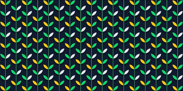 Абстрактный образец листьев