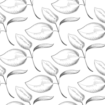Abstract leaves seamless pattern. design for fabric, packaging,