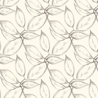 Abstract leaves seamless pattern. design for fabric,