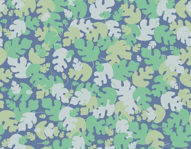 抽象的な葉のシームレスなパターン。
