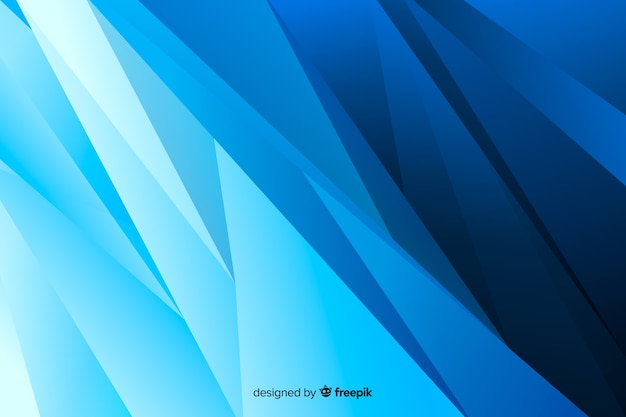 抽象的な左斜めの青い図形の背景