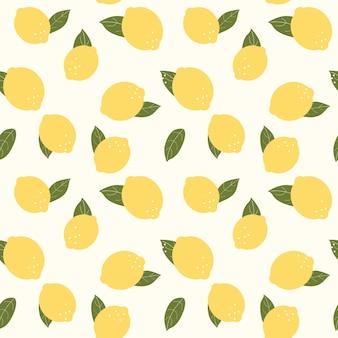 추상 레몬 원활한 패턴 배경