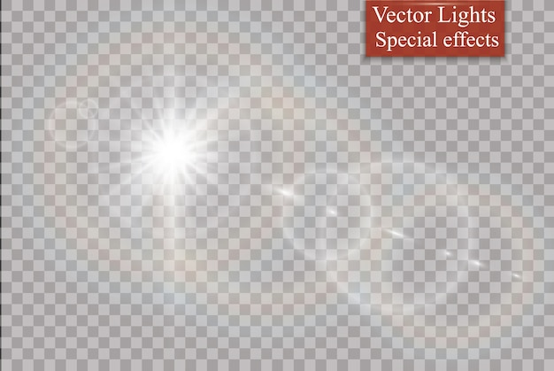 Abstract lens gold front solar flare transparent special light effect design
