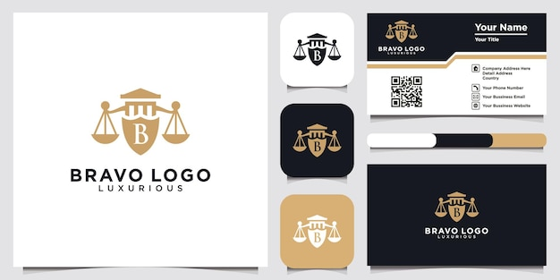 Abstract letter b shield logo design shield line geometry for company security logo logo icon template for web and business card