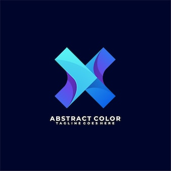 Abstract letter color logo design