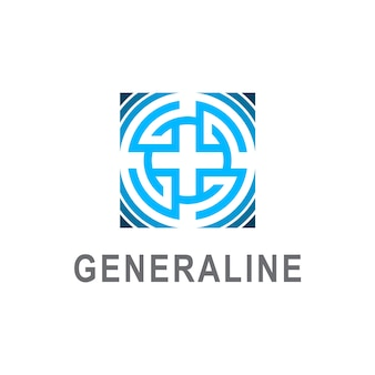 Abstract letter g logo design, letter g in square shape