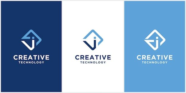 Абстрактная буква j вензель логотип значок дизайн шаблона. креативный минималистичный векторный шаблон на основе скретч-приложения j в причудливом синем цвете