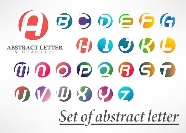 抽象的な文字のロゴタイプセット
