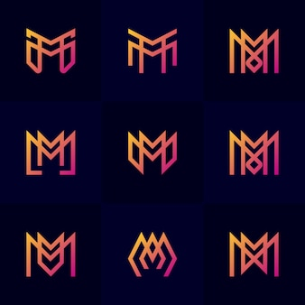 Abstract letter m set