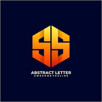 Abstract letter pentagon logo design modern color