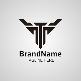 Abstract letter t logo, creative t & y  icon design.