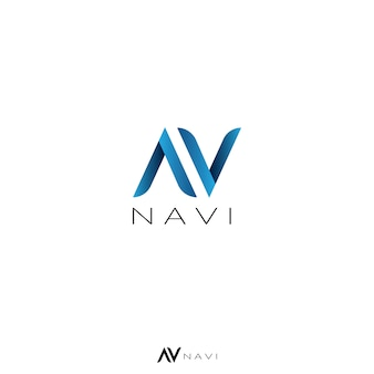 Abstract letter a, v, and n concept logo
