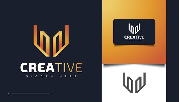 Шаблон дизайна логотипа с абстрактной буквой w, подходит для мультимедиа, технологий, творческих отраслей, развлечений и других предприятий Premium векторы