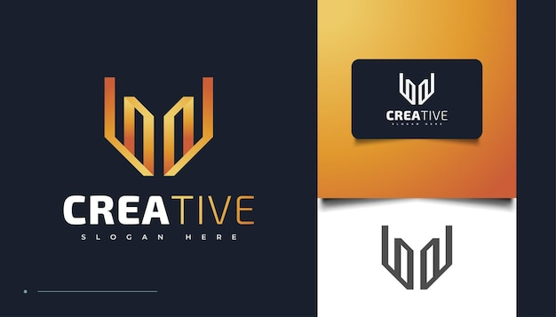 Abstract letter w logo design template, suitable for multimedia, technology, creative industries, entertainment, and other businesses