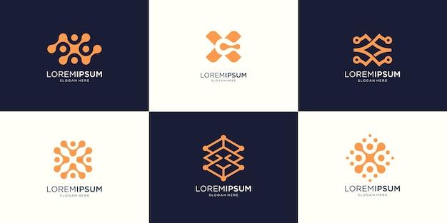 Абстрактная буква x логотип иллюстрации графический в современном стиле. хорошо для интернета, технологий, бренда, рекламы.