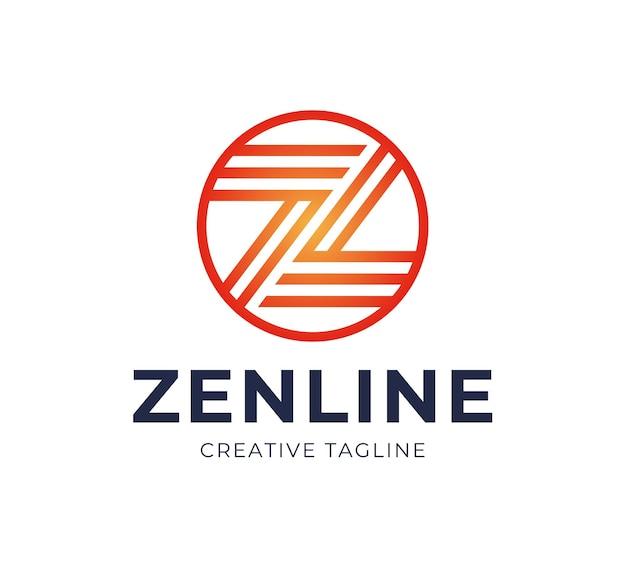 抽象的な文字zロゴデザインテンプレート。ラインクリエイティブサイン。ユニバーサルアイコン。
