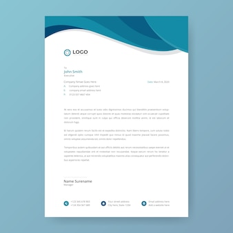 Abstract letterhead design template in flat style