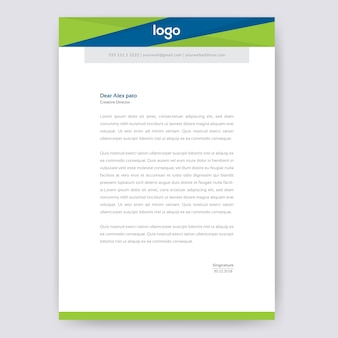 Abstract letterhead design