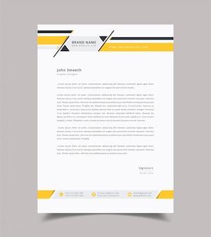 Abstract letterhead design