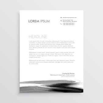 Дизайн шаблона фирменного бланка с краской