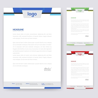 Abstract letterhead template