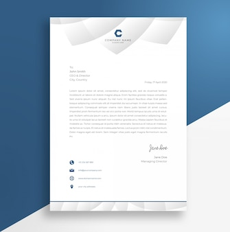 Abstract letterheads design template