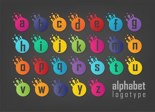 抽象的な文字ロゴタイプセット