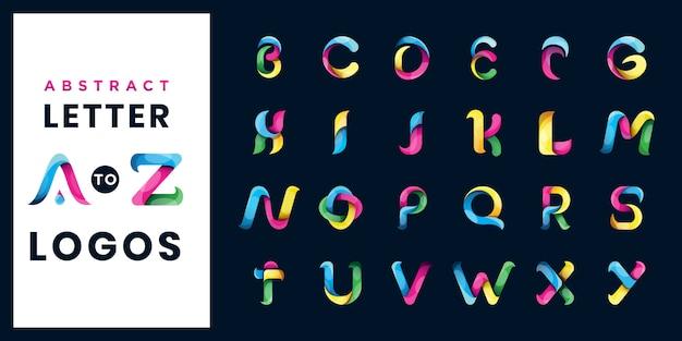 抽象文字セットのロゴのテンプレート