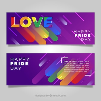 Abstract lgtb pride banners