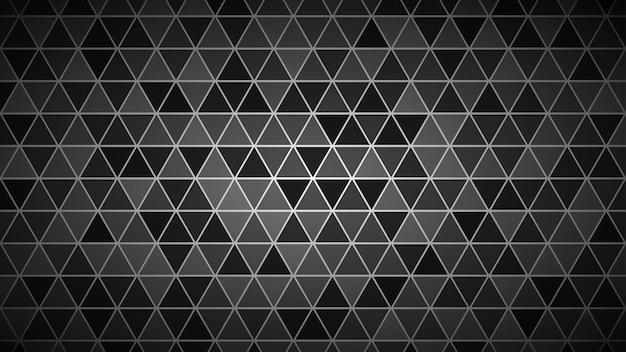 灰色の小さな三角形の抽象的な明るい背景。