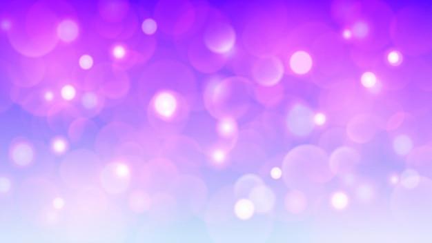 Абстрактный светлый фон с эффектами боке в фиолетовых тонах