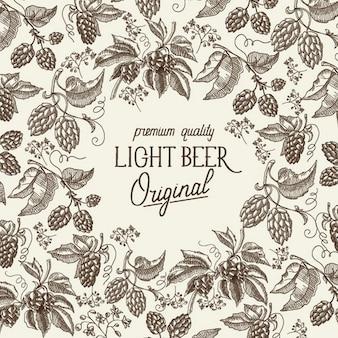 Modello astratto birra leggera
