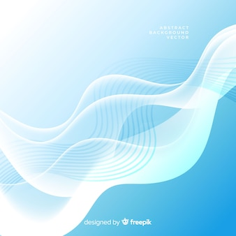 Abstract light blue background with wavy shapes