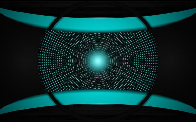 Abstract light blue on black frame layout modern tech design background