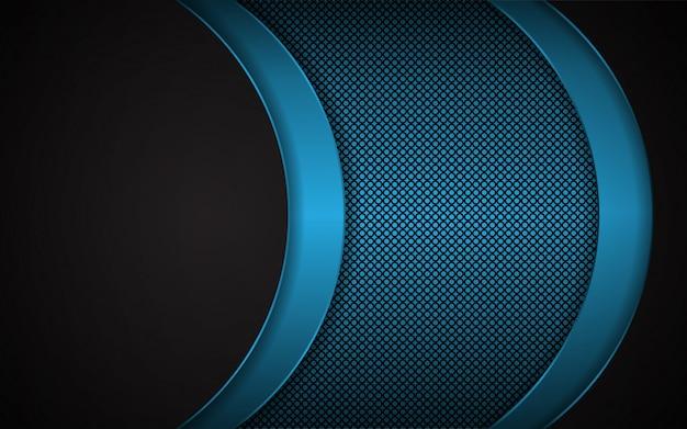 Abstract light blue on dark background