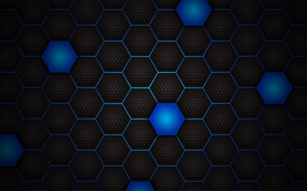 Abstract light blue hexagon background
