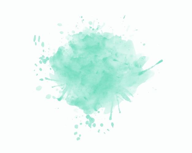 白い背景の上の抽象的な水色の水彩ブラシストローク